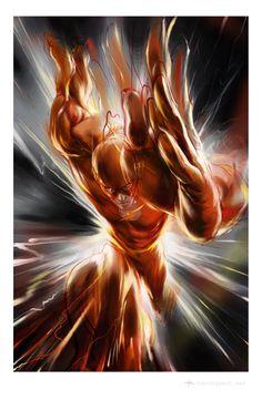 The Flash (Barry Allen) Arte Dc Comics, Marvel Comics, Dc Comics Art, Anime Comics, Flash Comics, Comic Book Characters, Comic Book Heroes, Comic Character, Comic Books Art