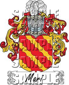 Mari Family Crest apparel, Mari Coat of Arms gifts