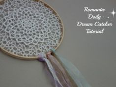Doily Dream Catcher DIY Tutorial. Easy to make and requires no sewing.
