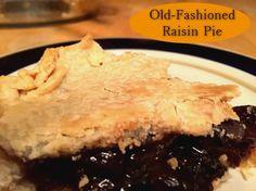 Raisin Pie http://www.momspantrykitchen.com/raisin-pie.html