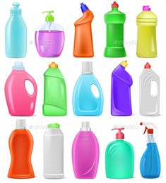 Buy Detergent Bottle Vector Cartoon Plastic Blank by vectoristik on GraphicRiver. Detergent bottle vector plastic blank container with detergency liquid and mockup household cleaner product for laund. Plastic Bottle Design, Plastic Bottles, Food Packaging Design, Packaging Design Inspiration, Granite Cleaner, Powder Laundry Detergent, Cosmetic Labels, Bottle Cleaner, Detergent Bottles