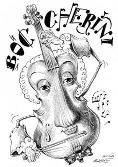 Caricatura de Boccherini por Pablo Morales de los Rios Pop Art, Tin Whistle, Music Humor, Composers, Dali, Caricature, Cartoon, Comics, Drawings