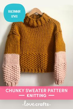 The annie jumper Knitting pattern by the knit mix Jumper Knitting Pattern, Chunky Knitting Patterns, Jumper Patterns, Knitting Designs, Knitting Tutorials, Knit Patterns, Stitch Patterns, Chunky Knit Jumper, Chunky Crochet