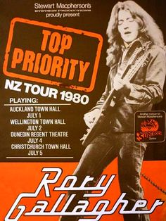 Rory Gallagher - New Zealand 1980