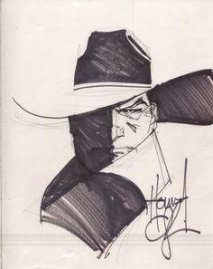 Howard Chaykin 1986 Shadow Sketch Comic Art