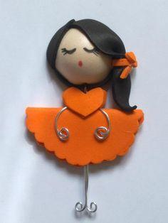 #Broche naranja