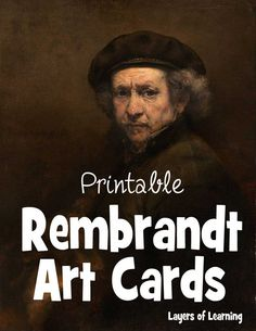 These Rembrandt Art Cards depict six paintings by the great Dutch Golden Age painter. Print them and play matching games to become more familiar with Rembrandt.