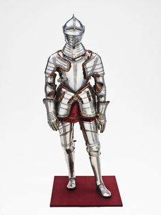 German, Augsburg    Armor for the Field and Tourney, 1560/70    Steel with etching, brass, leather, and velvet weave - Art Institute of Chicago