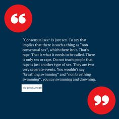 Consensual sex is just sex