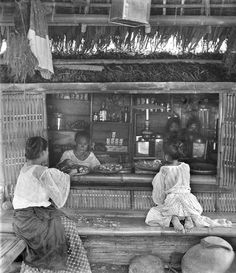 "Sari-sari store, Unknown location in the Philippines, early 20th Century...The word sari-sari is Tagalog meaning ""variety"". by John T Pilot, via Flickr"