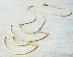 collier sautoir doré de Shlomit Ofir