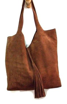 b6e534b1bb733 Handmade Brown suede leather purse