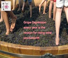 Winy Wits-Wine Quotes- The Grape Depression #WinyWits #WineQuotes #WineHumour #WineLover #Wine