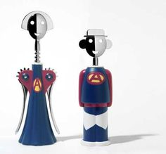 Limited-edition motifs for Alessandro Mendini's Anna and Alessandro M. Corkscrews.
