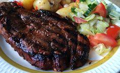 Marinade til nakkekoteletter og svinekoteletter Grilled Pork Marinade, Steak, Grilling, Bbq, Food, Barbecue, Barbecue Pit, Crickets, Meals