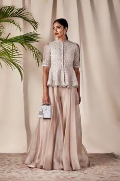 The Gul Sharara – Studio Sharara Designs, Lehenga Designs, Indian Fashion Dresses, Pakistani Dresses, Indian Gowns, Indian Wedding Outfits, Indian Outfits, Indian Weddings, Mode Bollywood