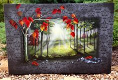 """""""Escaping Formalities""""  24""""x36"""" acrylic and airbrush  This is one to feel and think about. www.LorrieBridges.com"""