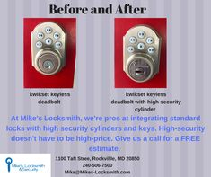 At Mike's Locksmith, we have solutions to your most pressing security issues. Give us a call Keyless Deadbolt, Emergency Locksmith, Locksmith Services, Gadgets, Gadget