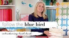 Free Pattern Download, Bird Free, Riley Blake, Hush Hush, Blue Bird, Quilt Blocks, Product Launch, Quilts, Youtube