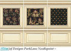 jsf DesignsParkLane Needlepoint #Georgian #Regency #Victorian #paneling #parklane #Oriental #TS2 #thesims2 #customcontent #cc