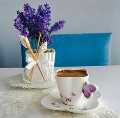 #coffee #flowers