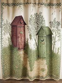 outhouse shower curtains