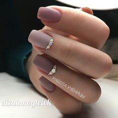 Manicure Ideas Pastel Matte Nails 44 New Ideas Elegant Nail Designs, Elegant Nails, Stylish Nails, Trendy Nails, Nude Nails, Matte Nails, My Nails, Glam Nails, Bridal Nails
