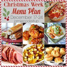 Christmas Week Menu Plan 2016- menu planning- weekly meal planning JCIU