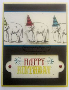 You're Amazing Stampin UP   @ stampin king  I like the black and white Elephants!!