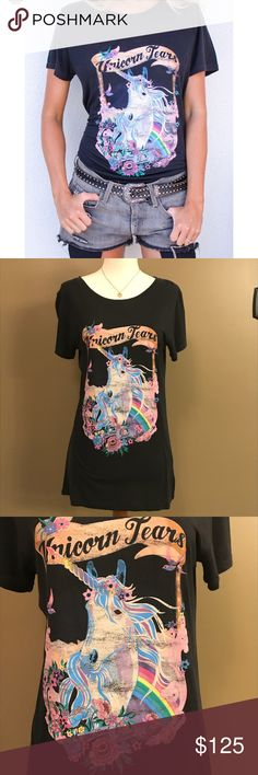 🦄🔮🌸Spell Unicorn Tears Tee NWT Spell Unicorn Tears Tee. Super soft collector's Tee from Spell & the Gypsy Collective. Charcoal color, natural worn look. Size Small, comfortable fit. 🤗🦄🌸 Re-Posh 😊 Spell & The Gypsy Collective Tops Tees - Short Sleeve
