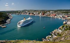 Cruise ship entering the harbour at St. John's, Nfld.  My hometown!