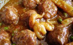 Albóndigas con sepia receta catalana