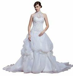 herafa A-Line Long Dress Rows of Lace Delicate Beading w35888