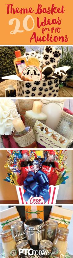 You are sure to find an idea in this collection of fun auction and gift baskets ideas!