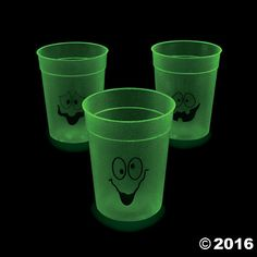 Glow-in-the-Dark Halloween Cups