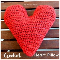 Crochet Heart Pillow-a Valentine's Day Gift