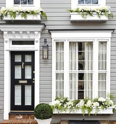 """Perfection"" @housebeautiful #housefacades #windows #doors #exteriordoorstyles"
