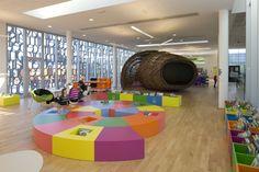 Médiathèque De Fougères - Picture gallery #architecture #interiordesign  #children