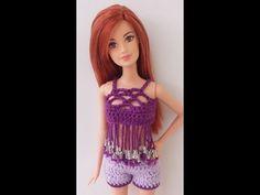 Mini Blusa Decorada em crochê para Barbie Passo a passo parte 2 - YouTube