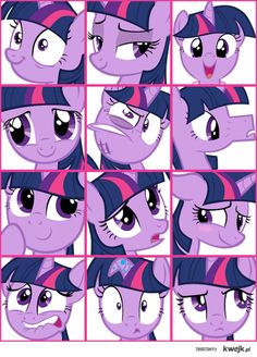 The many faces of Twilight Sparkle