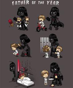 Darth Vader wäre ein toller Vater geworden, aber nein, Obi-Wan musste Luke und Leia ja verstecken...