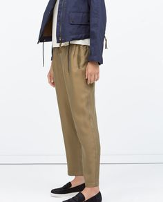 ZARA - WOMAN - ZIPPED TROUSERS