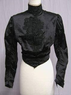 Turn of the Century Black Blouse