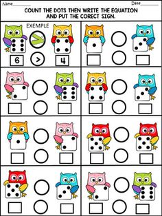 Back to school - math fun activities - 77 pages - color and b/w Kindergarten Math Worksheets, Preschool Math, In Kindergarten, Fun Math Activities, Math Resources, Math Games, First Grade Math, Math For Kids, Math Lessons