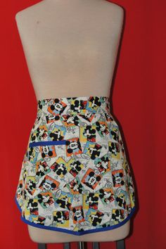 Rare Disney Mickey Comic print half apron by SavagelyStitched on Etsy, $25.00