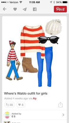 Last Minute DIY Halloween Costumes for Teens Wheres Waldo