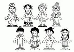 International Day for the Elimination of Racial Discrimination coloring pages for kindergarten