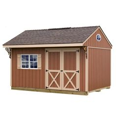 x 14 ft. Wood Storage Shed Kit with Floor including 4 x 4 - The Home Depot Barns Northwood 10 ft. x 14 ft. Wood Storage Shed Kit with Floor including 4 x 4 - The Home Depot Storage Shed Kits, Wood Storage Sheds, Outdoor Storage Sheds, Outdoor Sheds, Firewood Storage, Diy Storage, Small Storage, Kayak Storage, Outdoor Fun