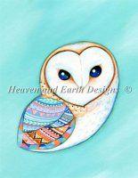 Tribal Pattern Barn Owl