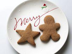 Healthy Vegan Cardamom Christmas Cut Out Cookies